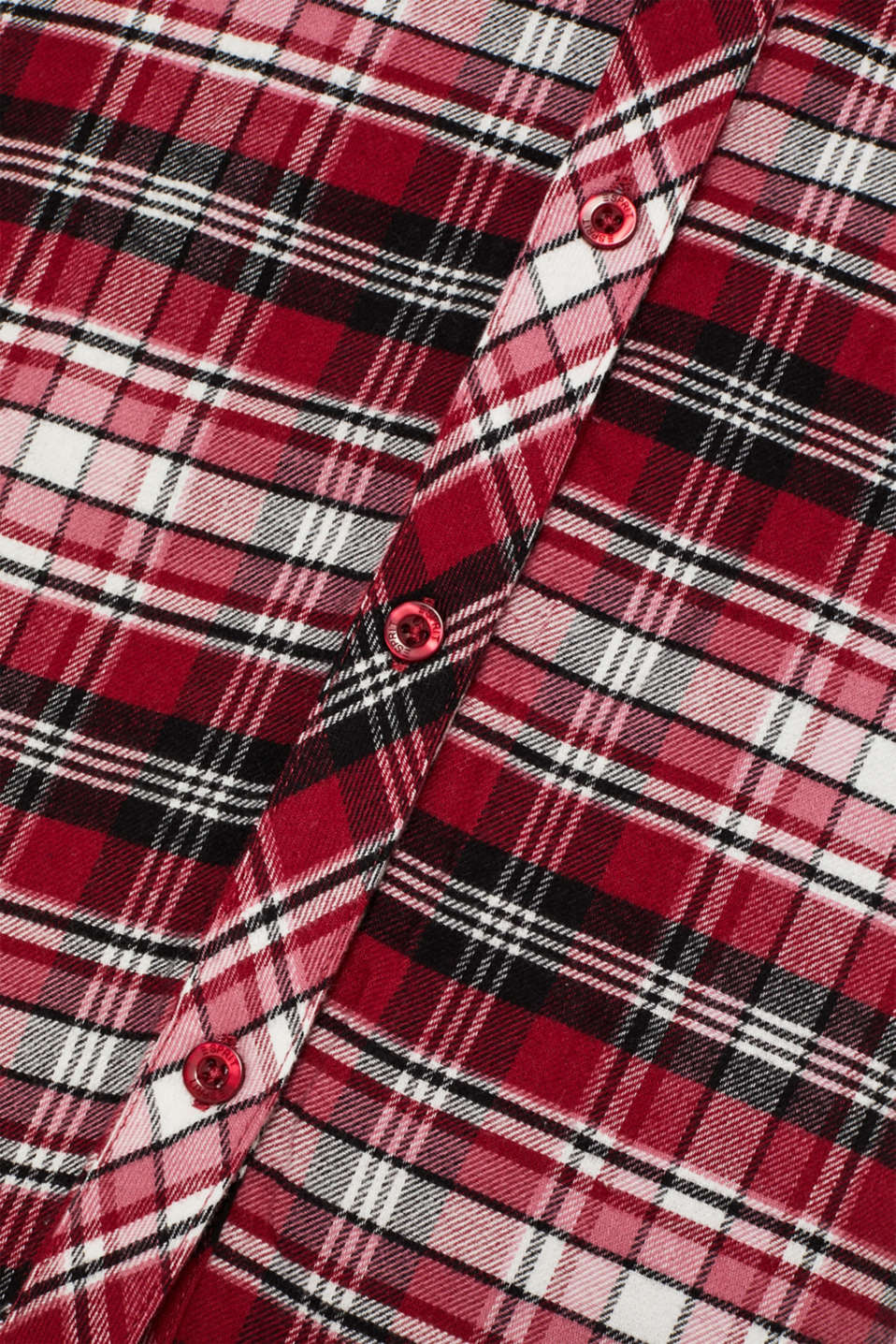 Check flannel nightshirt, 100% cotton, DARK RED, detail image number 4