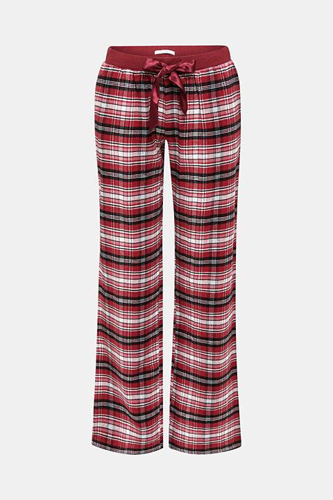 Flannel pyjama bottoms in 100% cotton