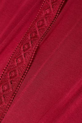 Jersey nightshirt with lace, DARK RED, detail