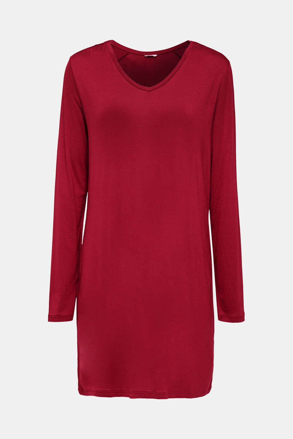 Jersey nightshirt with lace, DARK RED, detail image number 5