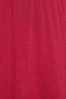 Lace-trimmed stretch jersey chemise, DARK RED, detail
