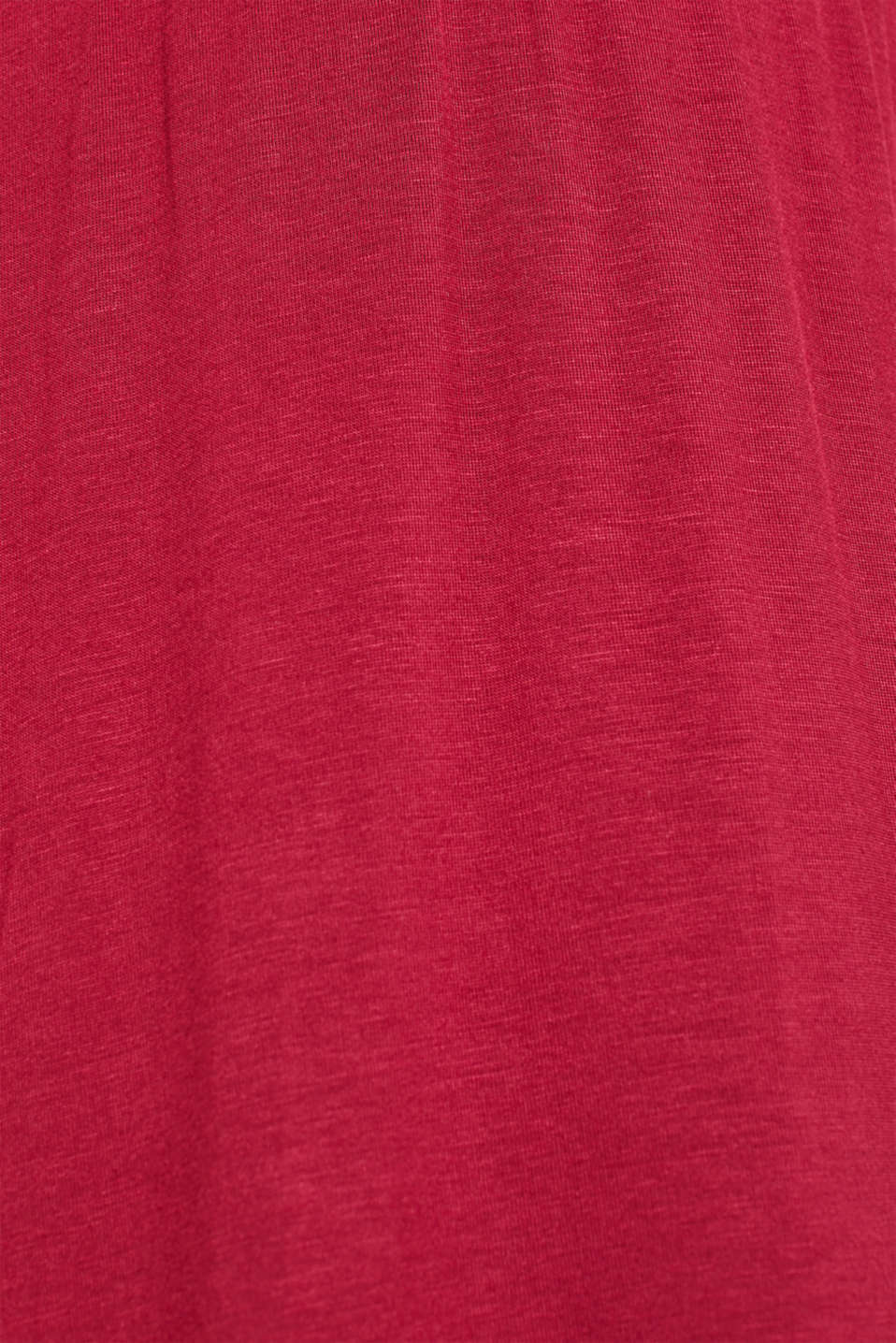 Lace-trimmed stretch jersey chemise, DARK RED, detail image number 2