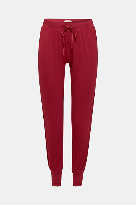Stretch jersey trousers with lace