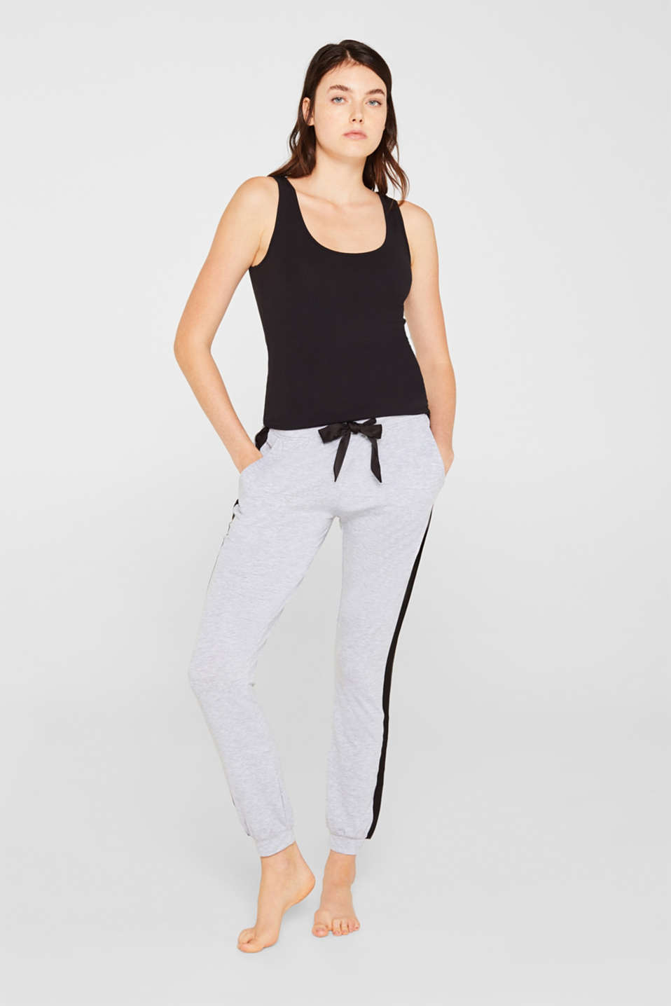 Esprit - Jersey bottoms with satin details