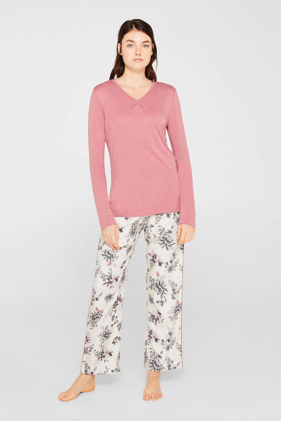Esprit - Jersey and fabric pyjamas