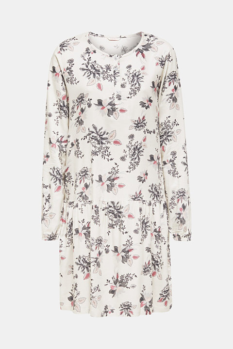 Woven nightshirt with a swirling skirt