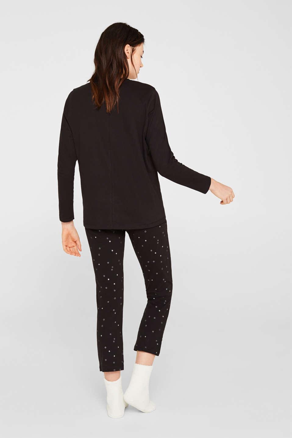 SET: jersey pyjamas plus snug socks, BLACK, detail image number 1