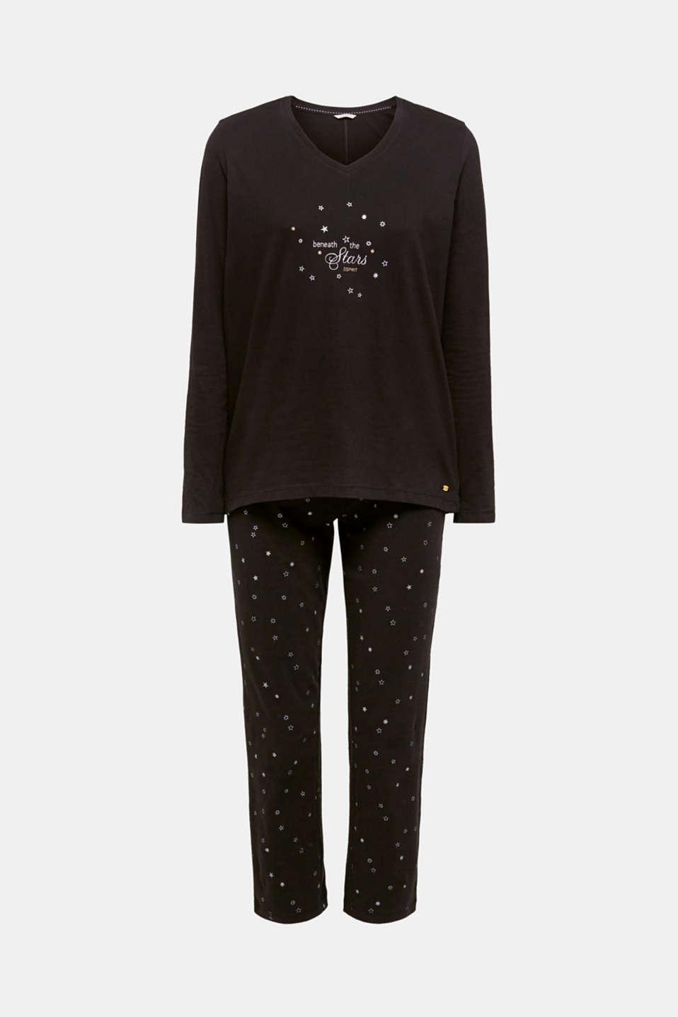 SET: jersey pyjamas plus snug socks, BLACK, detail image number 3