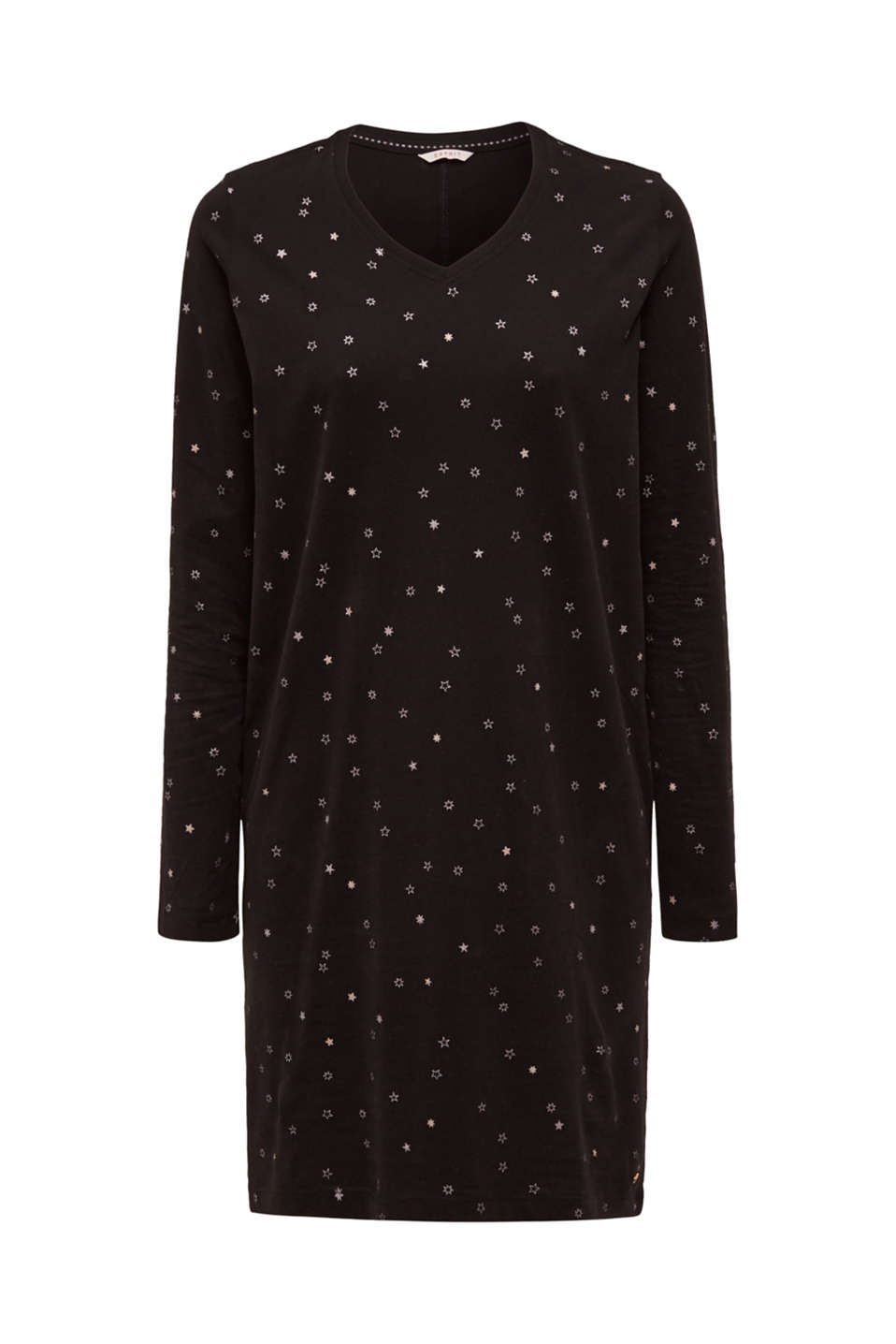 Print nightshirt made of 100% cotton, BLACK, detail image number 3
