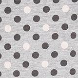 Jersey nightdress with polka dot print, MEDIUM GREY, swatch