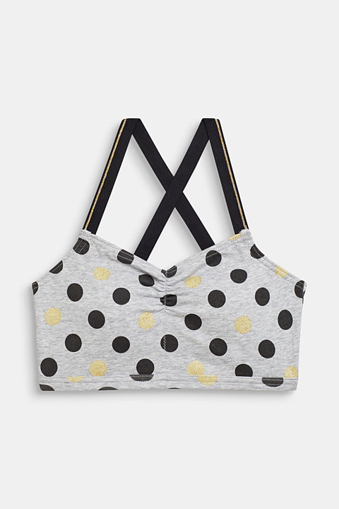 Padded bodice top with a polka dot print