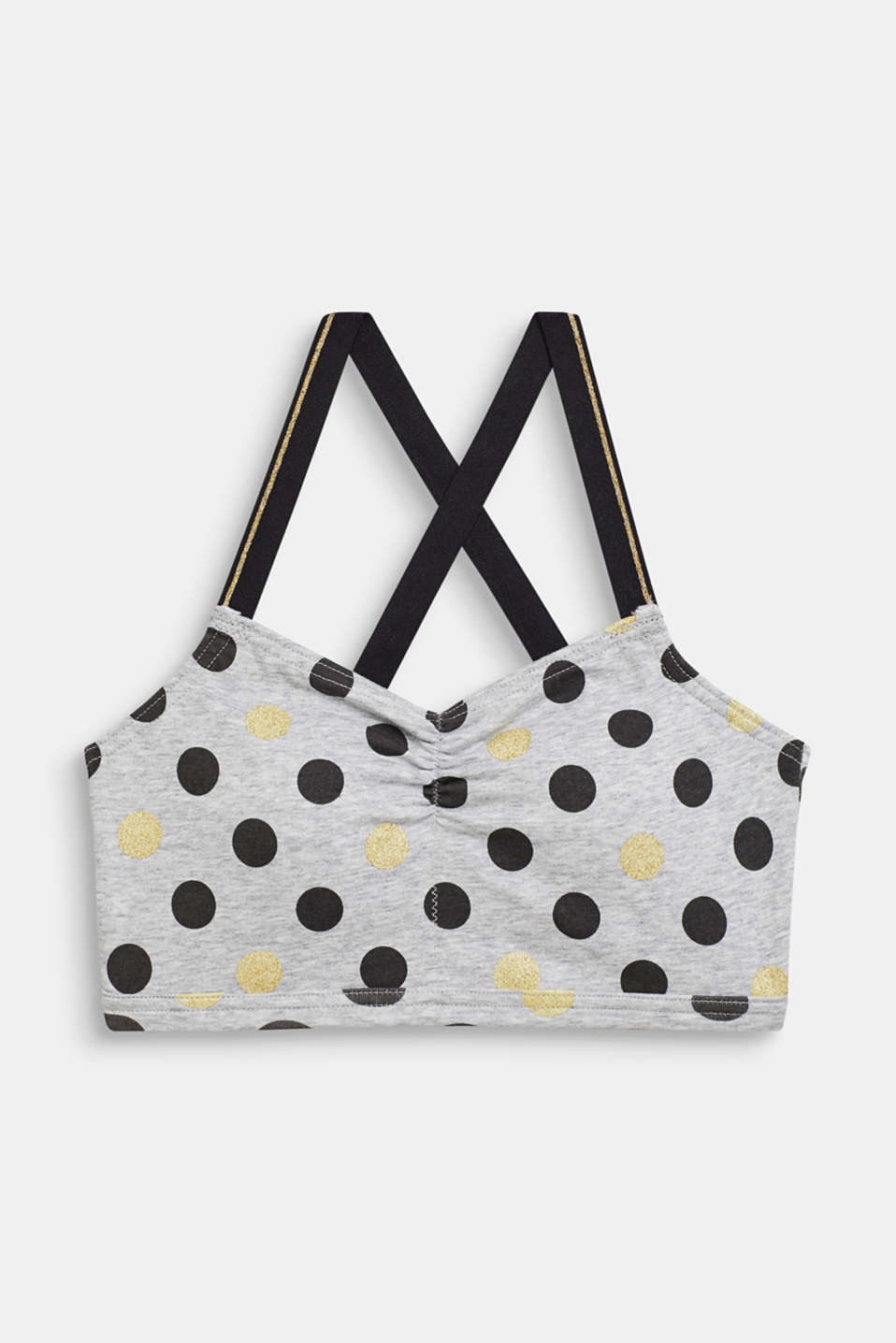 Esprit - Padded bodice top with a polka dot print