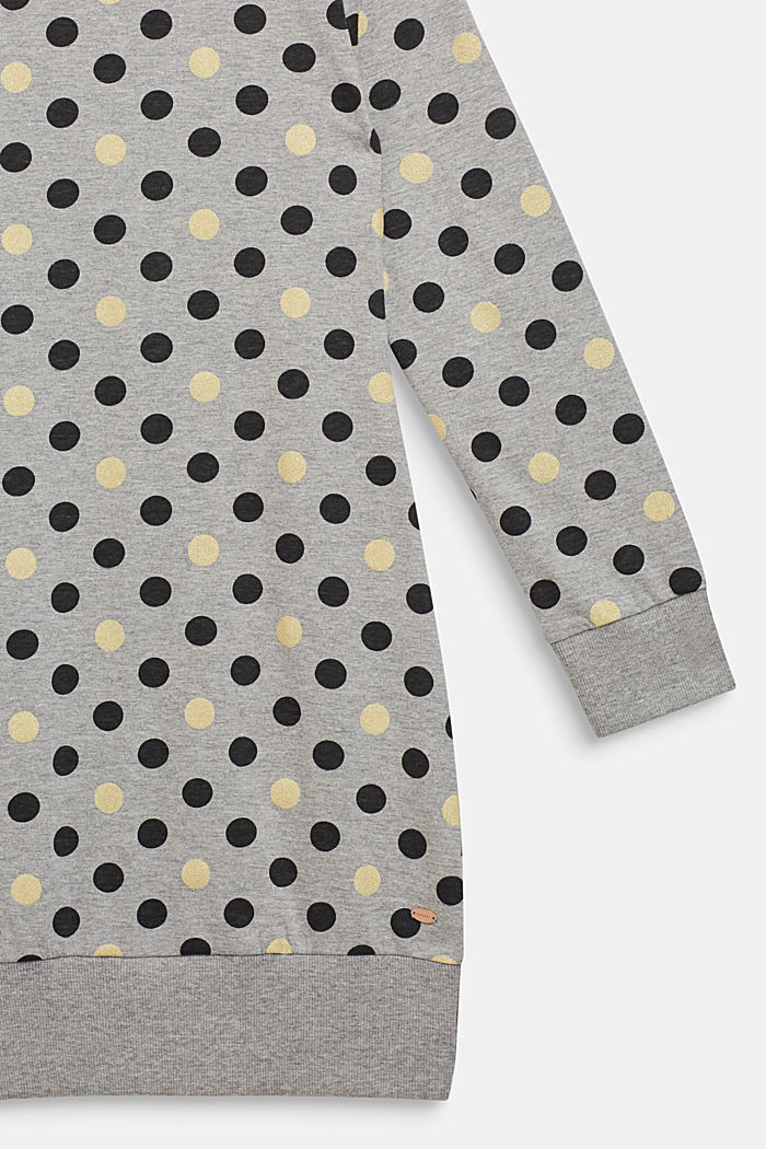 Nachthemd mit Glitter-Punkten, MEDIUM GREY, detail image number 2