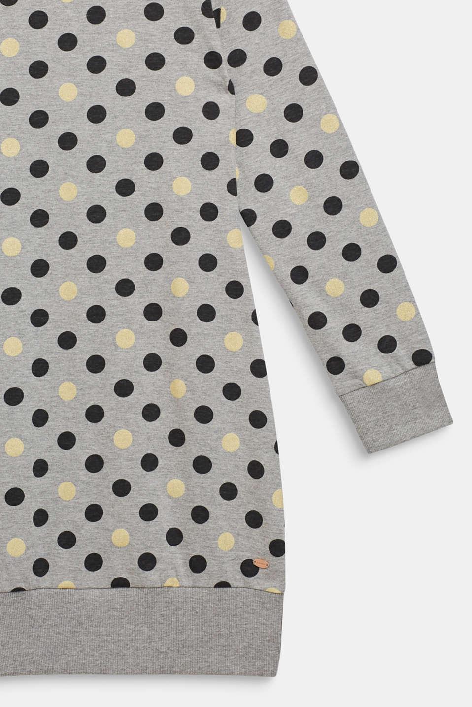 Nightshirt with glitter polka dots, MEDIUM GREY, detail image number 2