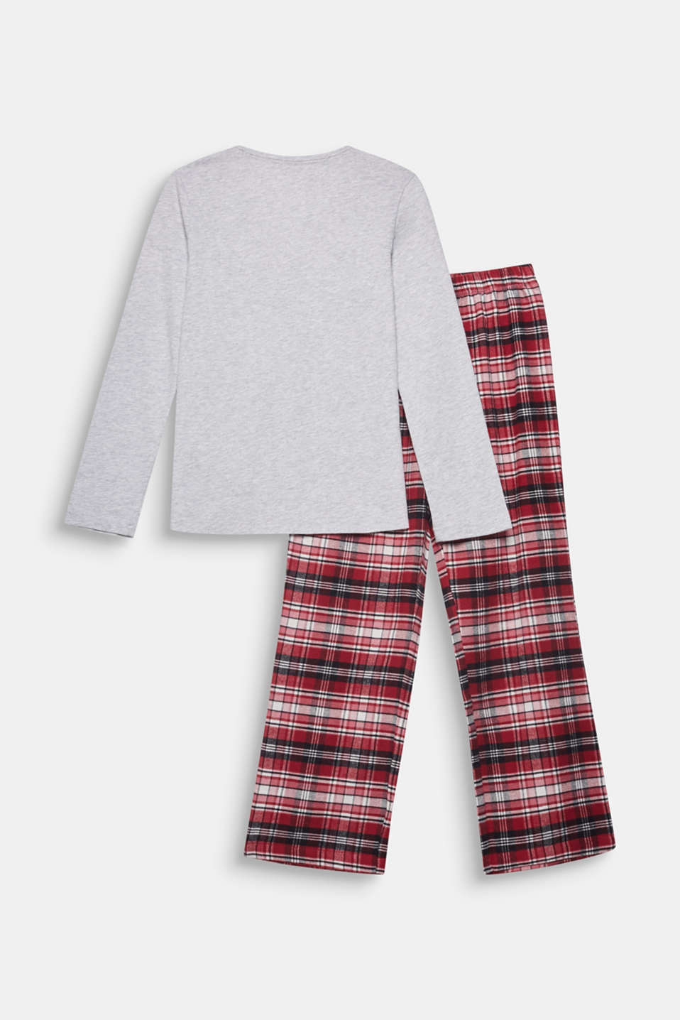 Soft flannel pyjamas made of 100% cotton, DARK RED, detail image number 1