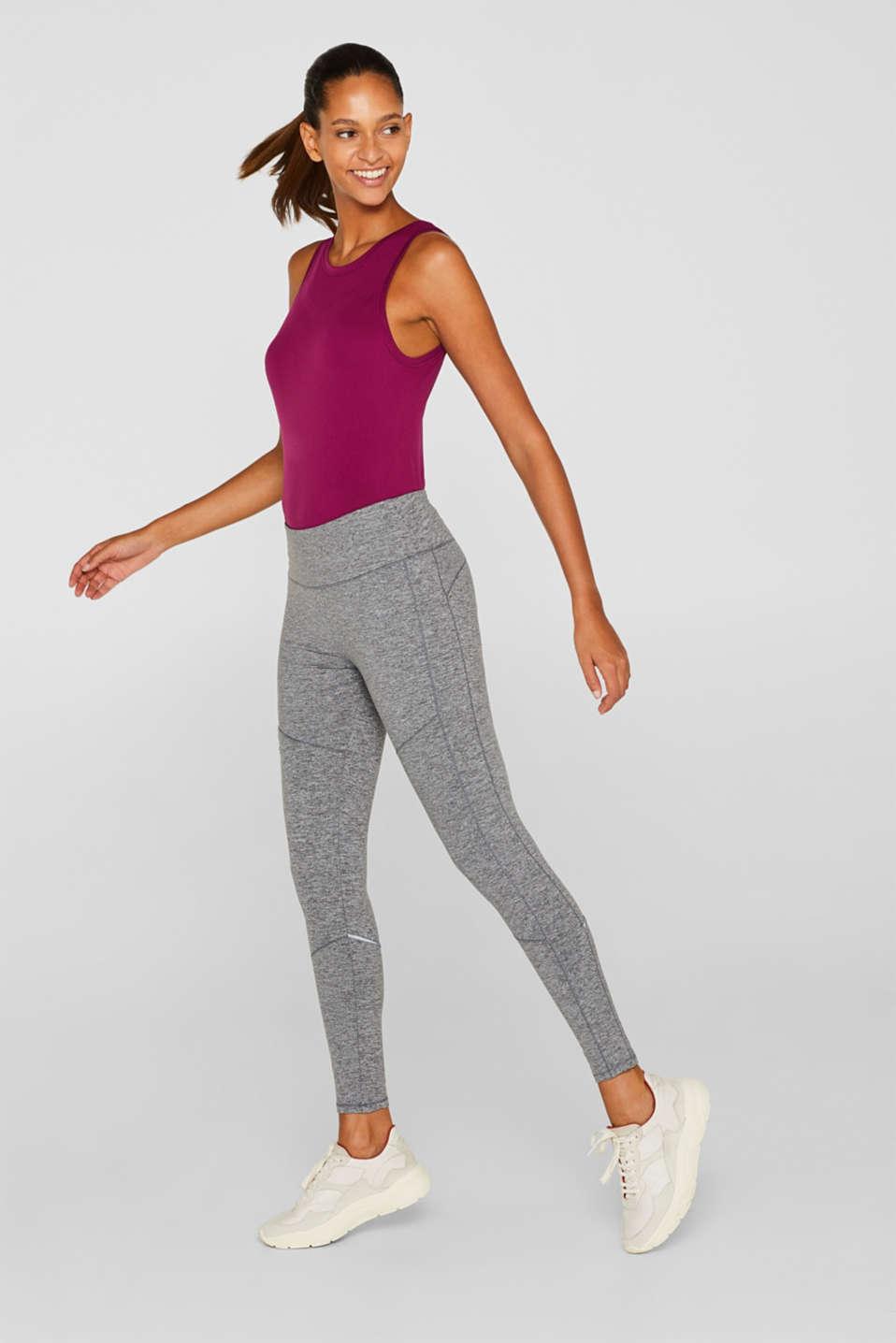 Melange leggings, E-DRY