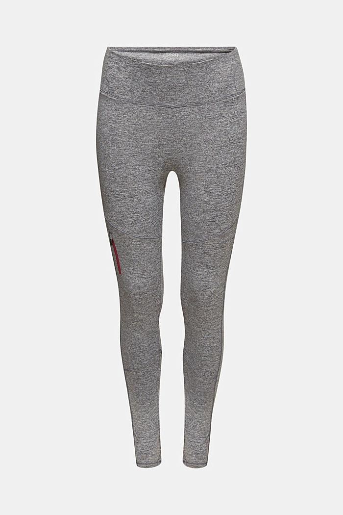 Meleeratut leggingsit, E-DRY, ANTHRACITE 2, detail image number 0