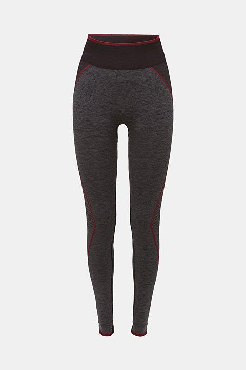 Seamless active leggings, E-DRY