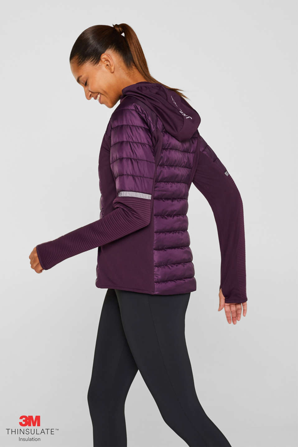 Jacket with 3M™ Thinsulate™ technology, AUBERGINE, detail image number 0