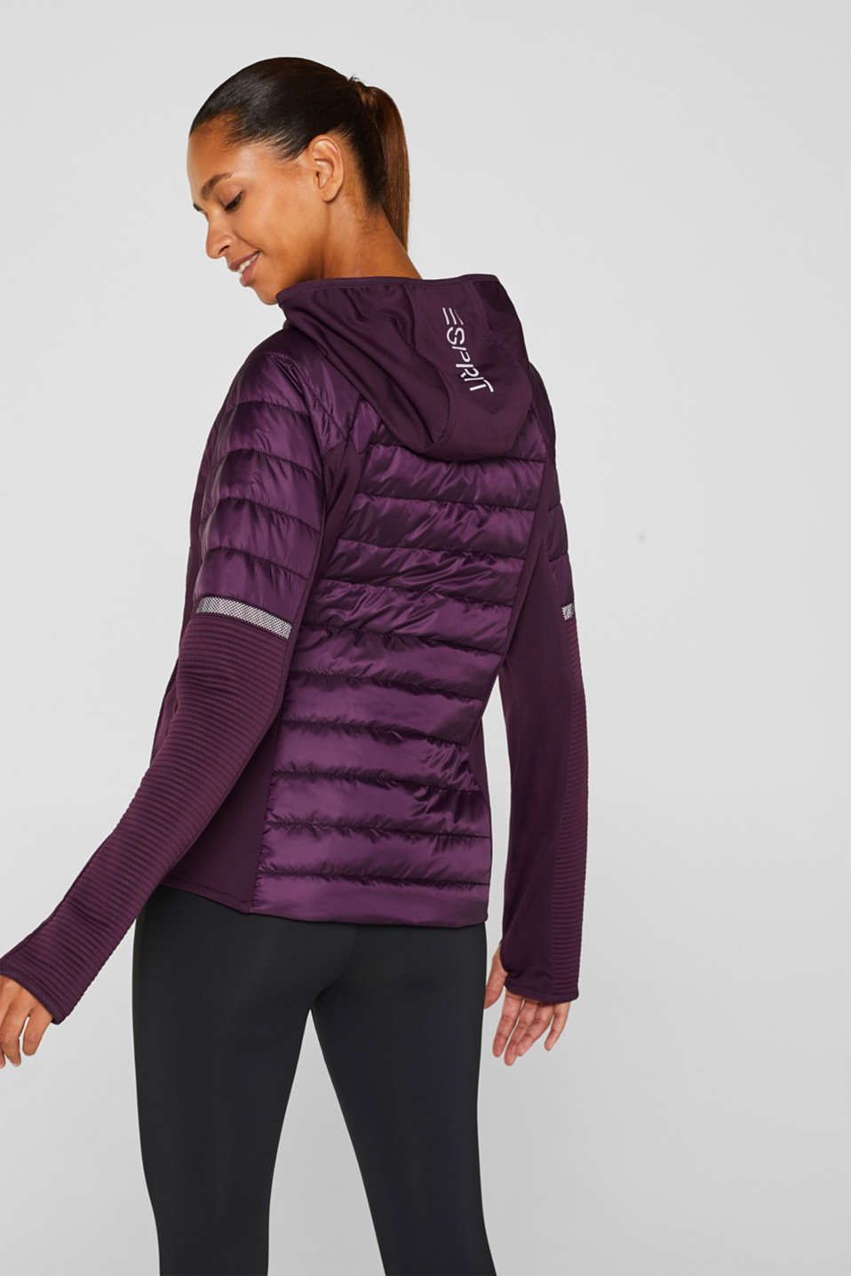 Jacket with 3M™ Thinsulate™ technology, AUBERGINE, detail image number 3