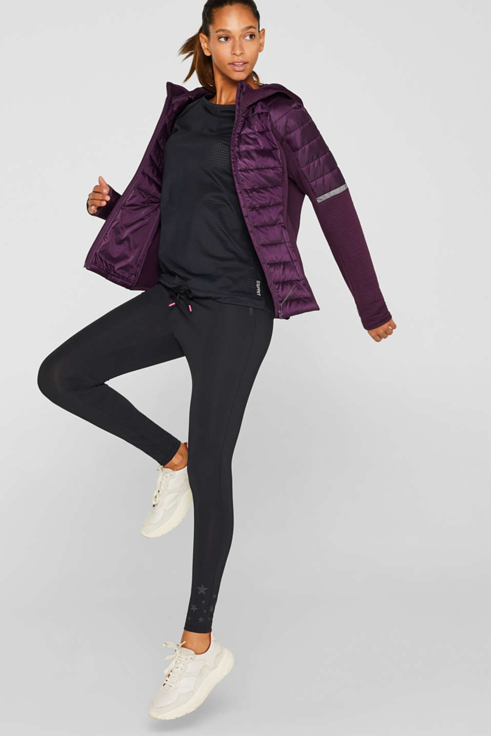 Jacket with 3M™ Thinsulate™ technology, AUBERGINE, detail image number 1