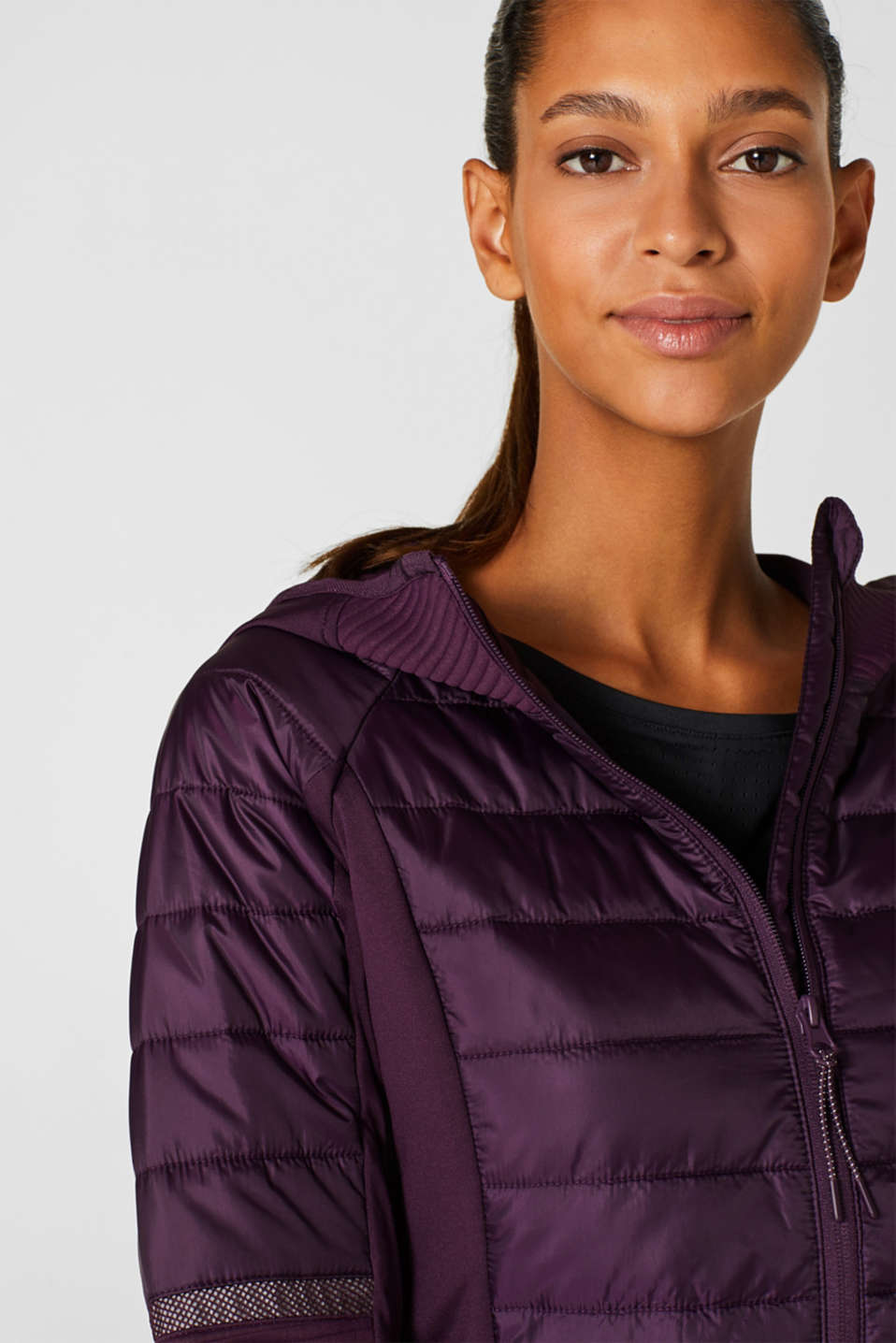 Jacket with 3M™ Thinsulate™ technology, AUBERGINE, detail image number 6