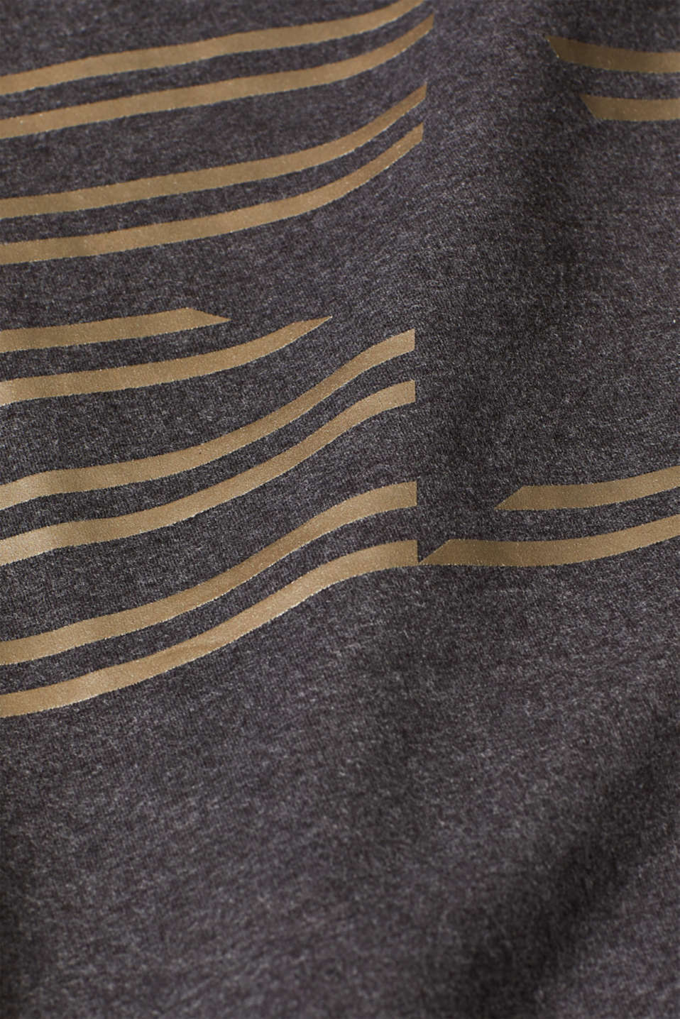 Sweatshirt with a shiny print and stretch, ANTHRACITE 2, detail image number 4