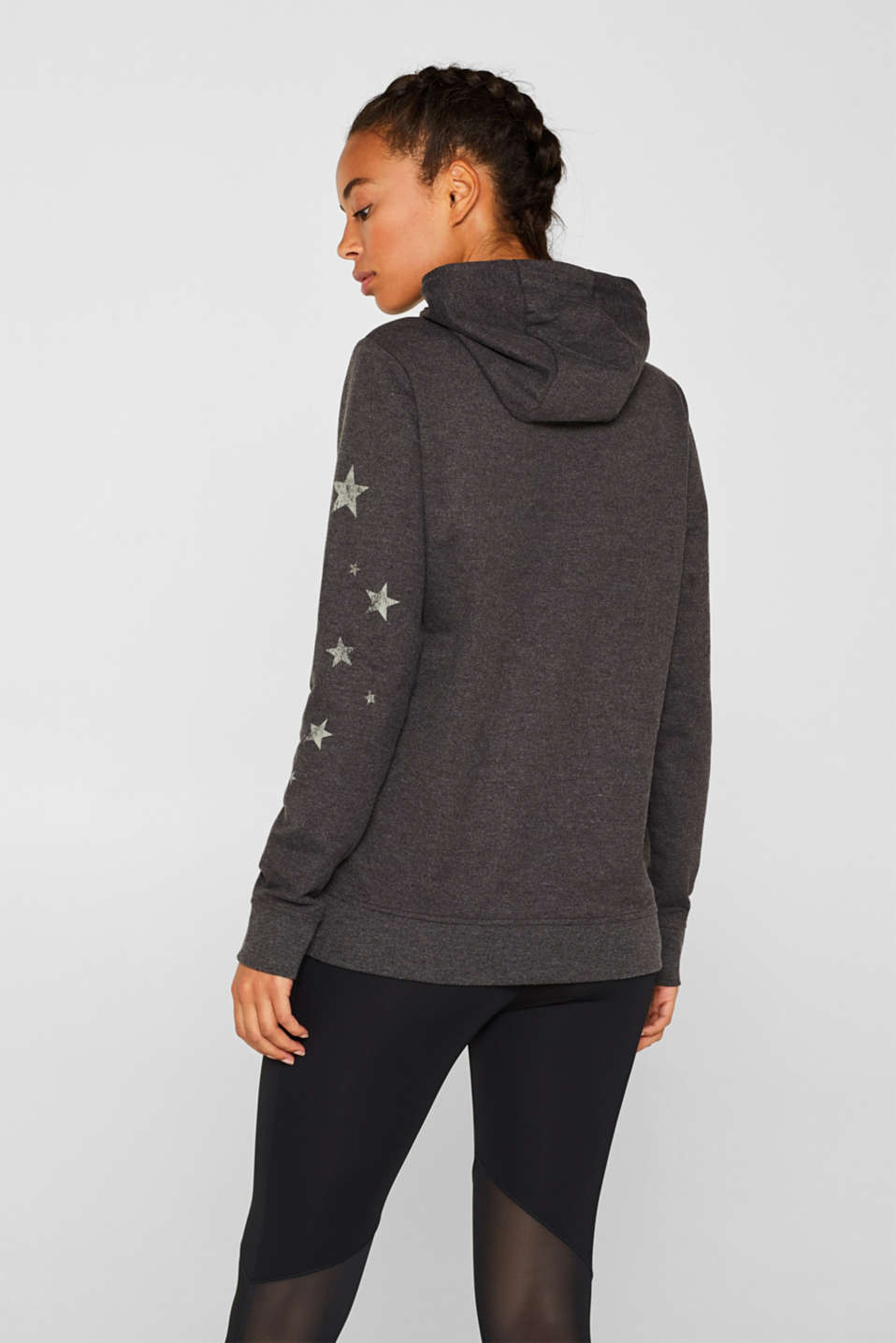 Hoodie with star print, ANTHRACITE 2, detail image number 3