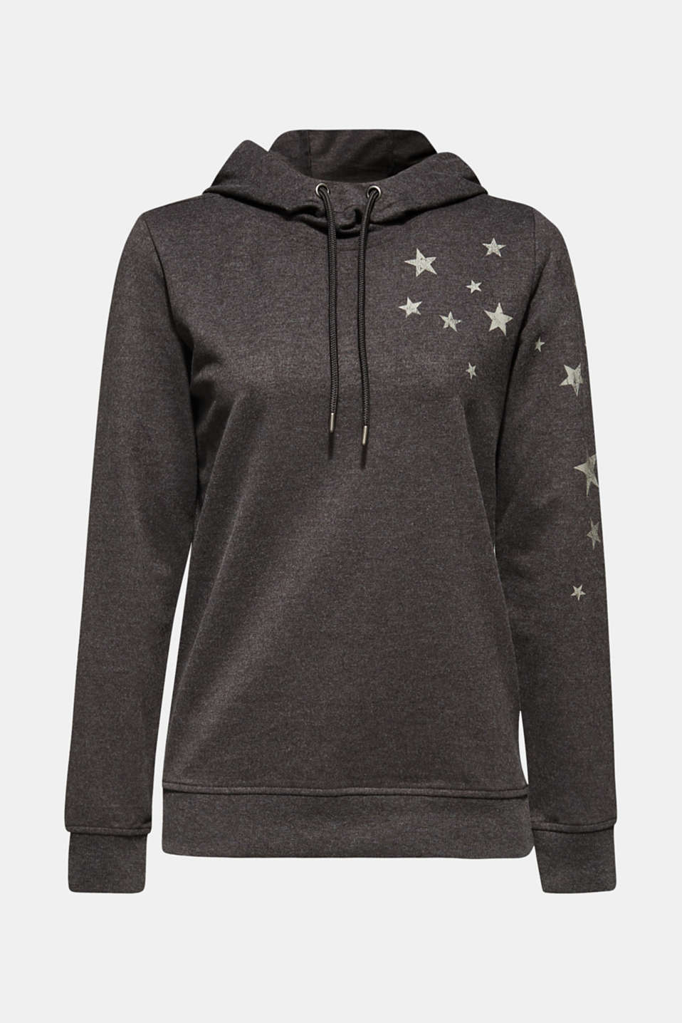 Hoodie with star print, ANTHRACITE 2, detail image number 5
