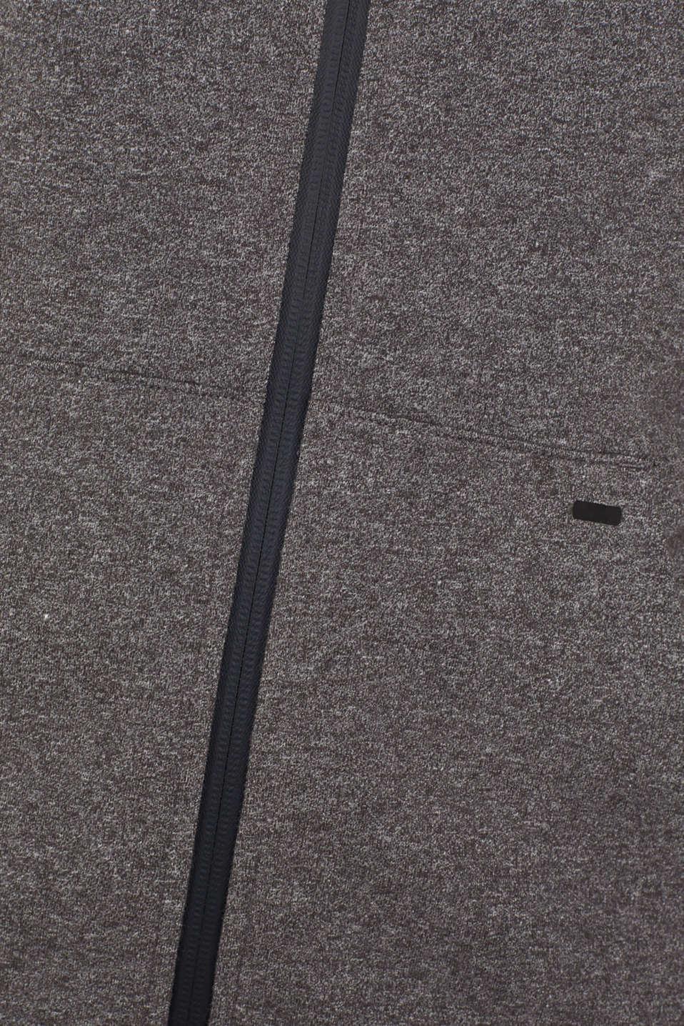 Hooded sweatshirt cardigan, ANTHRACITE 2, detail image number 3