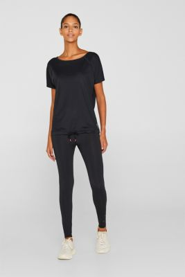 Mesh top with a drawstring, E-DRY, BLACK, detail