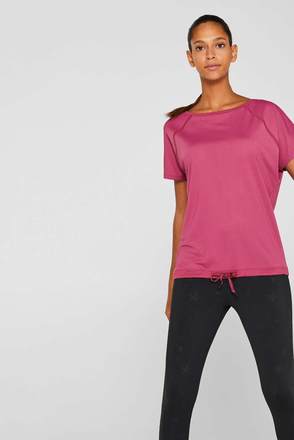 Esprit - Mesh top with a drawstring, E-DRY