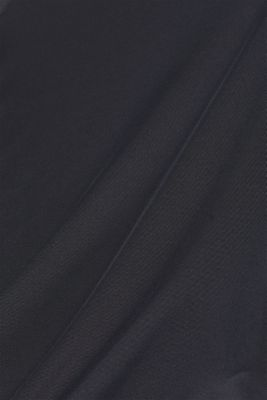 Stretchy long sleeve top with mesh sleeves, E-DRY, BLACK, detail