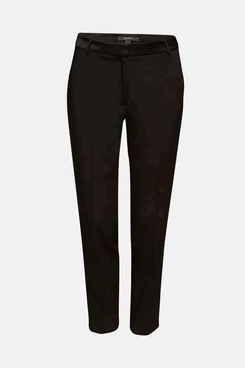 SATIN DETAIL mix + match stretch trousers