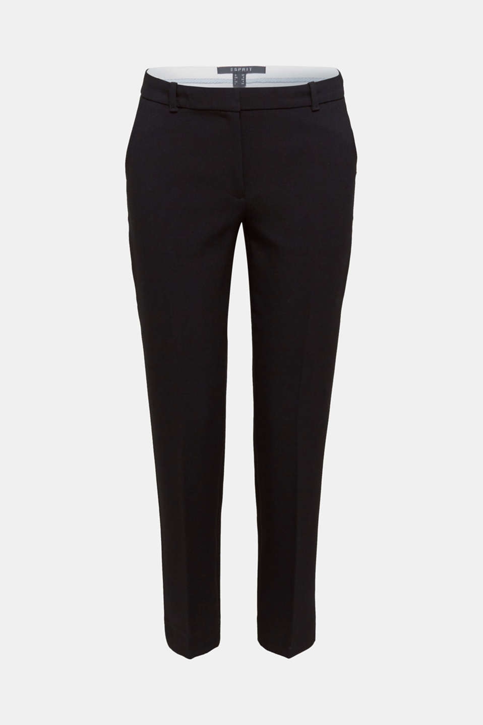 Stretch trousers with tonal stitching, BLACK, detail image number 6