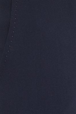 Stretch trousers with tonal stitching, NAVY, detail