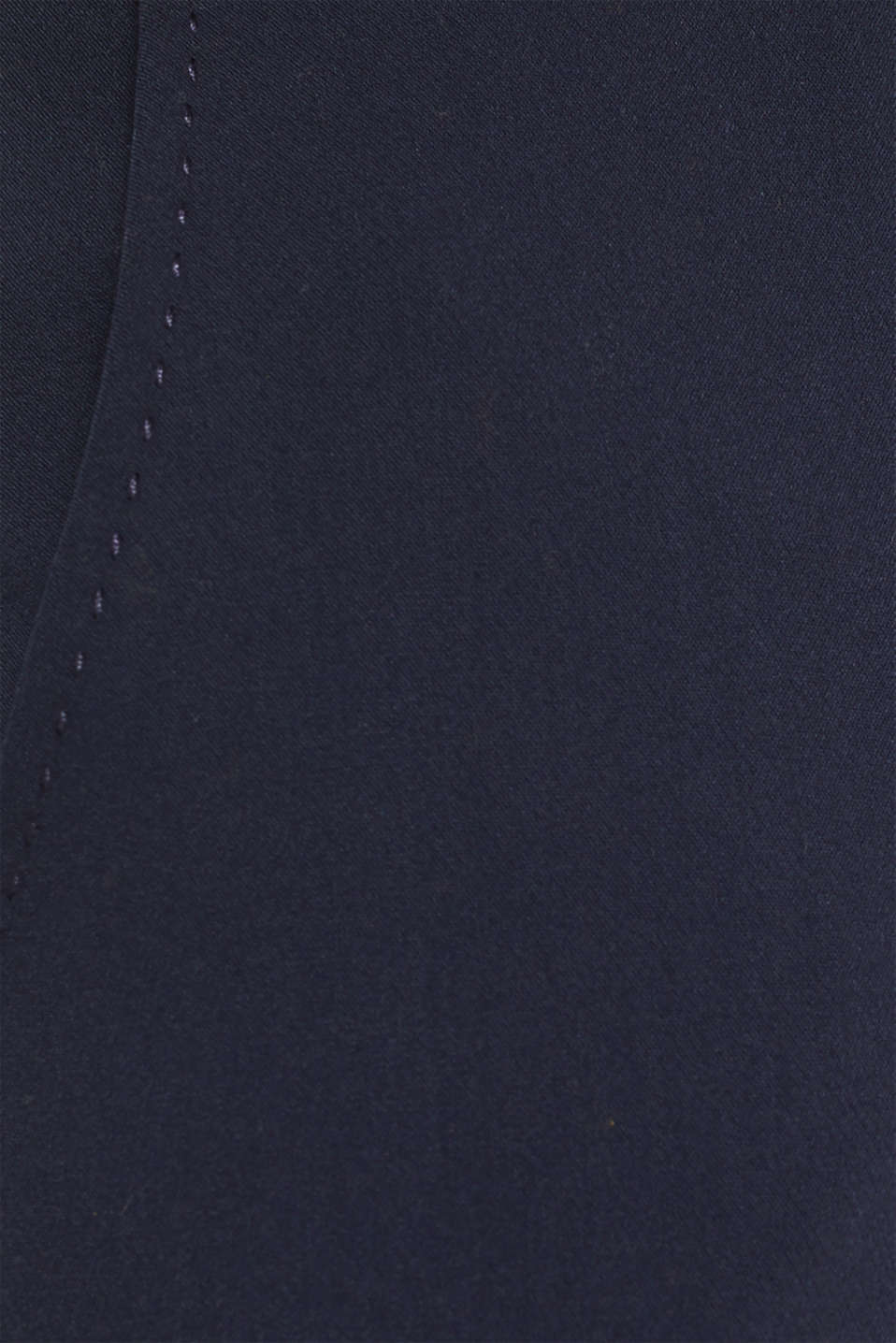 Stretch trousers with tonal stitching, NAVY, detail image number 4