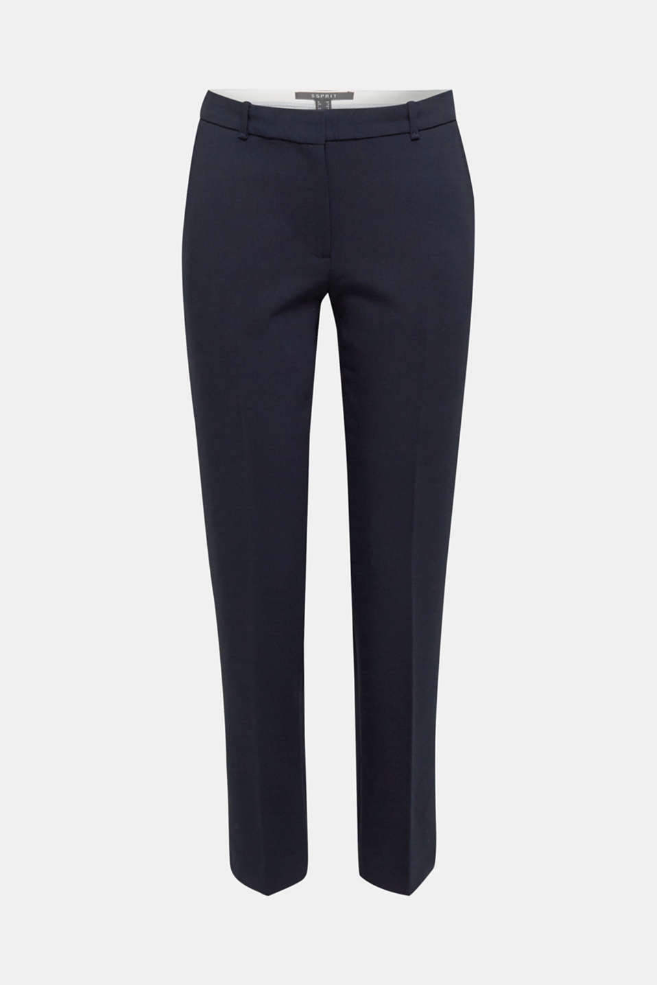 Stretch trousers with tonal stitching, NAVY, detail image number 7
