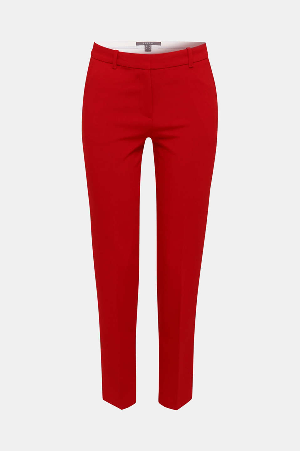 Stretch trousers with tonal stitching, DARK RED, detail image number 5