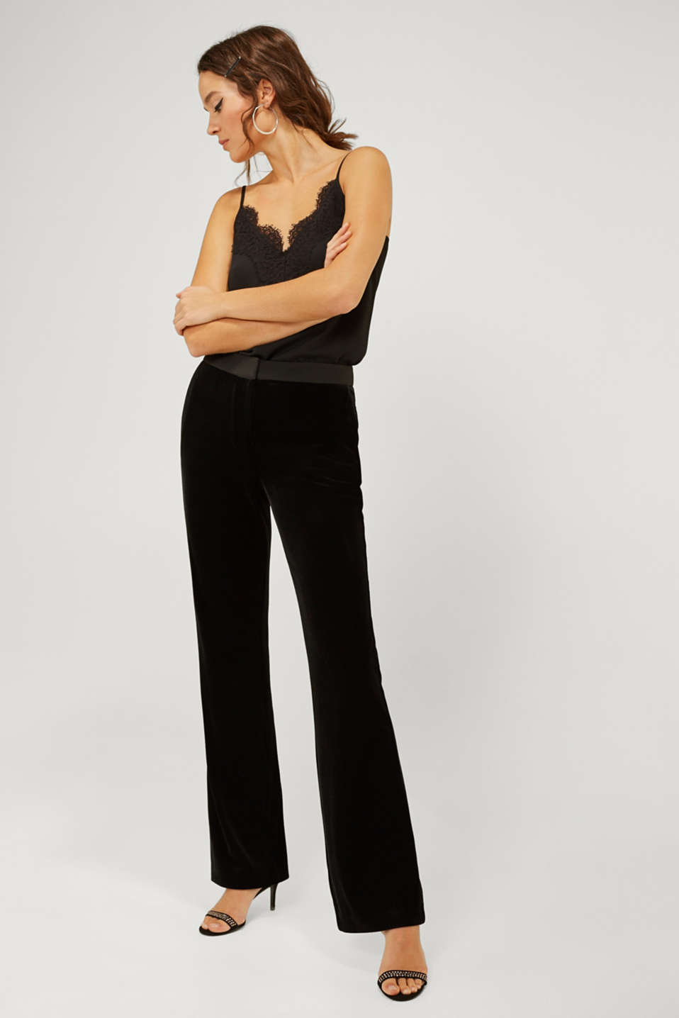 Esprit - Pantalon stretch Mix + Match VELVET