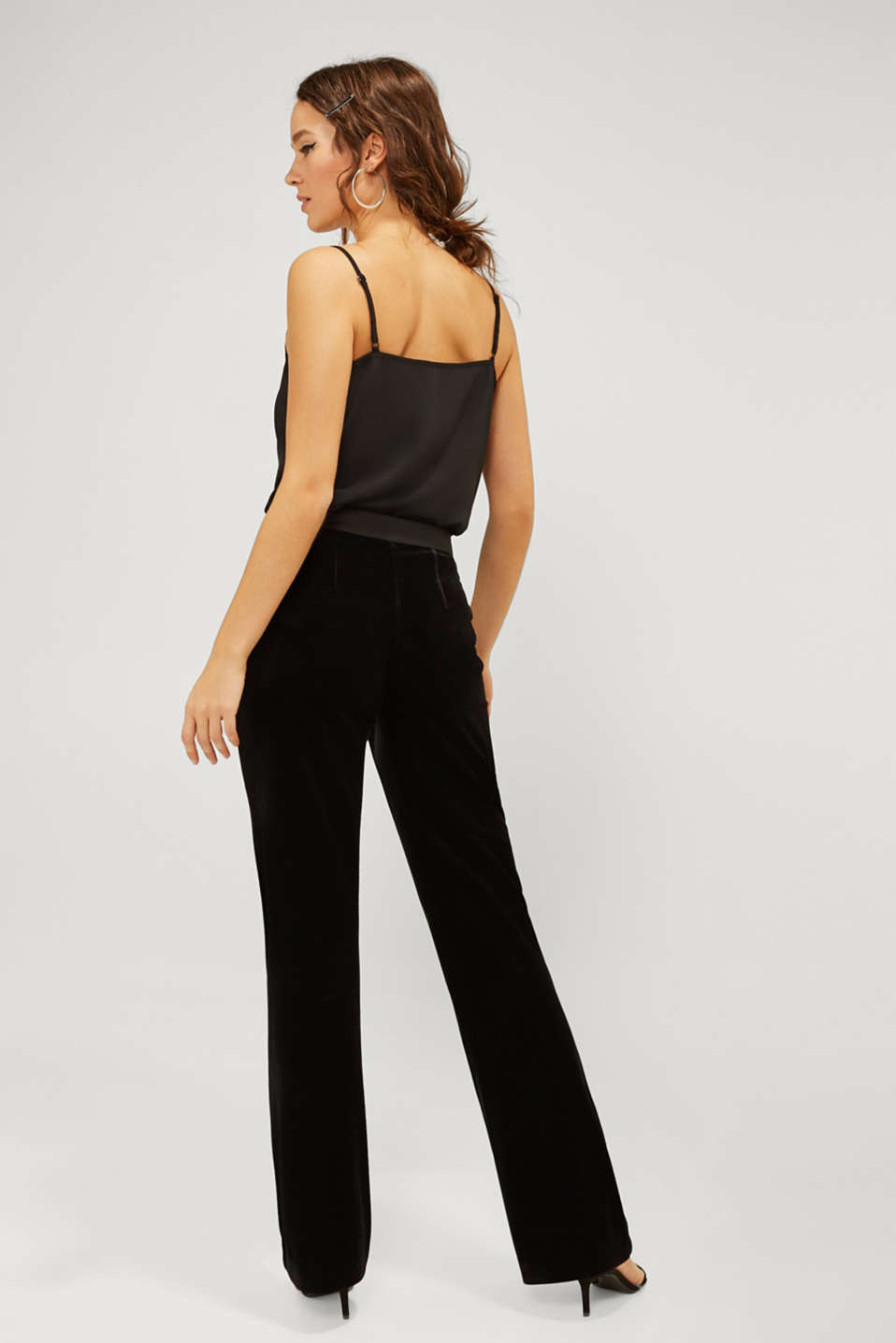 VELVET Mix + Match stretch trousers, BLACK, detail image number 3