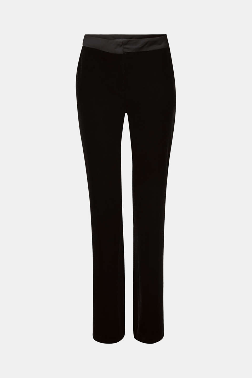VELVET Mix + Match stretch trousers, BLACK, detail image number 6