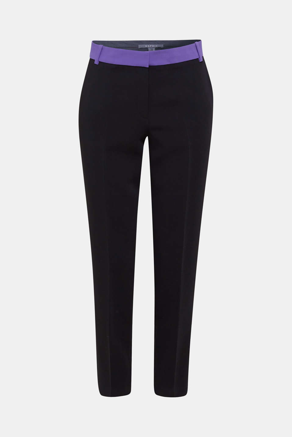 TECHNO TWILL mix + match stretch trousers, BLACK, detail image number 8