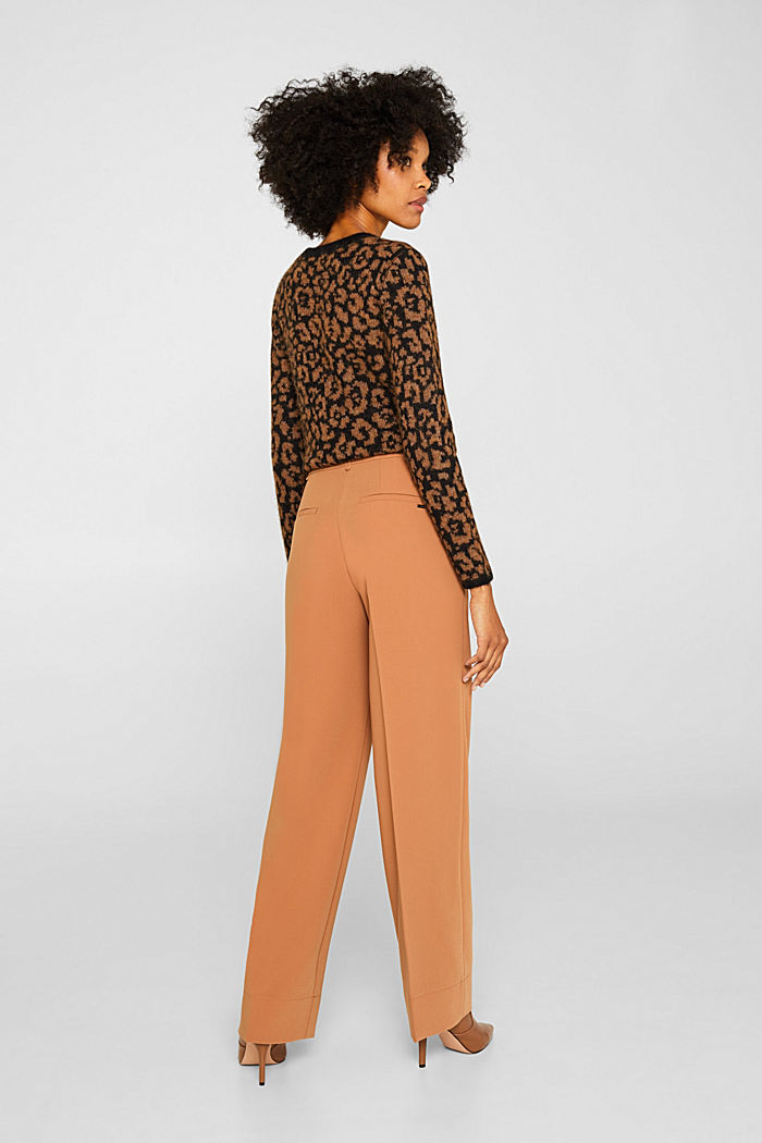 TECHNO TWILL mix + match wide stretch trousers, TOFFEE, detail image number 3
