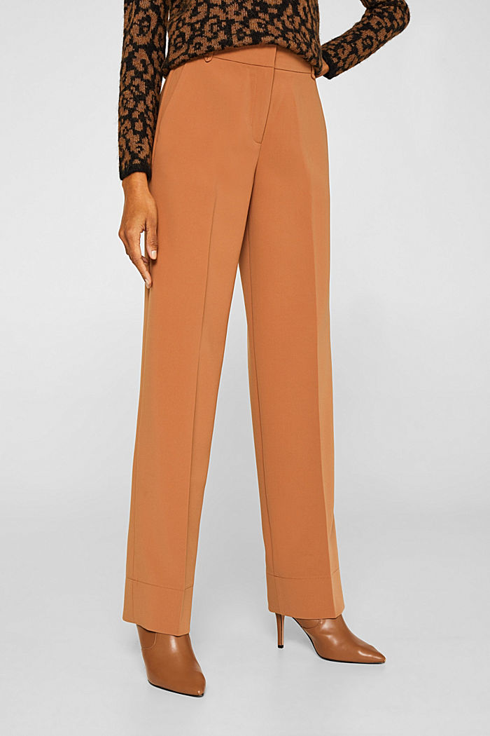 TECHNO TWILL mix + match wide stretch trousers, TOFFEE, detail image number 6