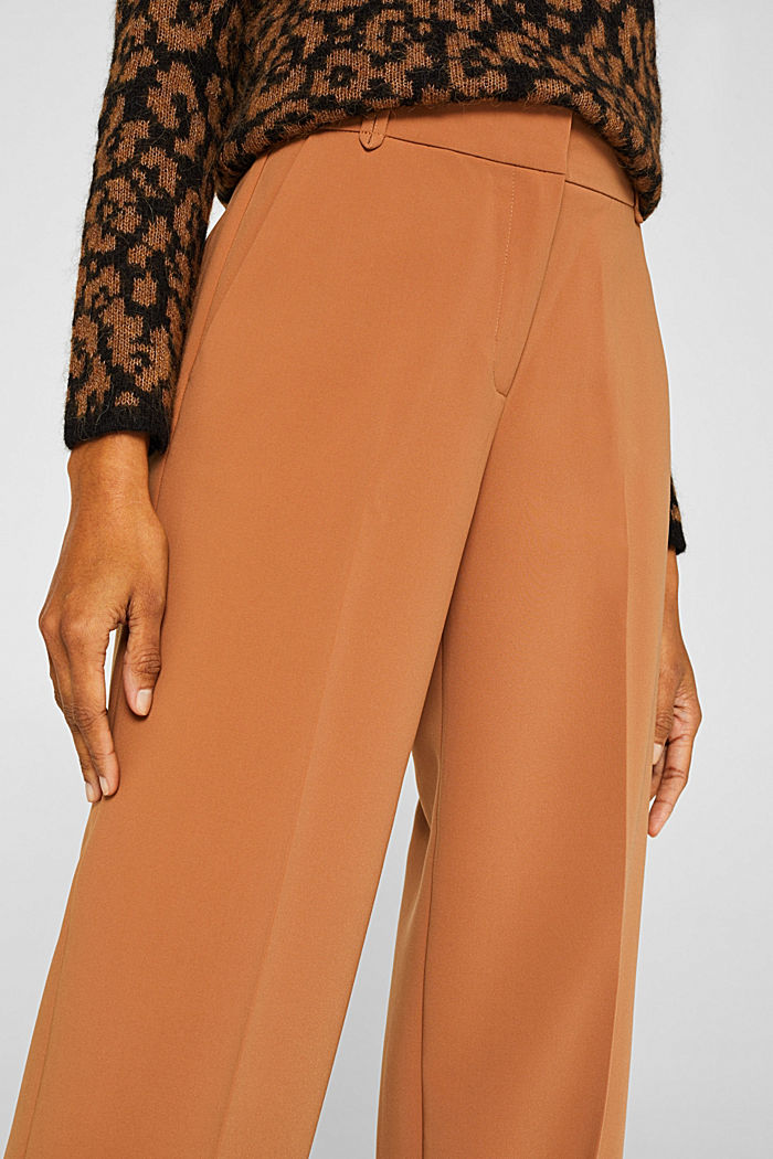TECHNO TWILL mix + match wide stretch trousers, TOFFEE, detail image number 2