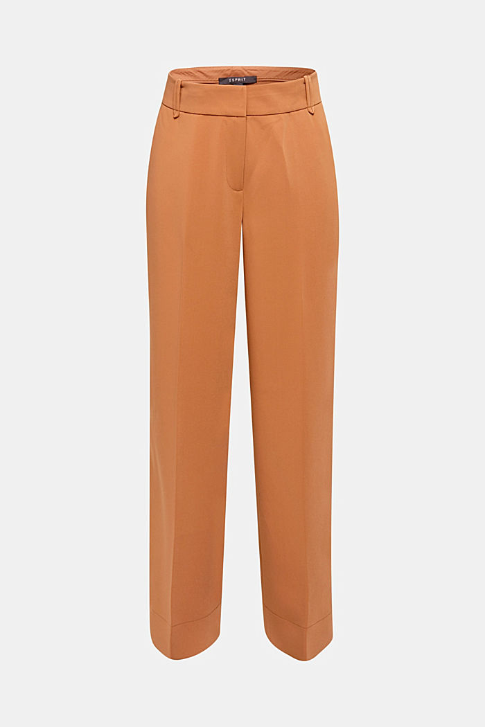 TECHNO TWILL mix + match wide stretch trousers, TOFFEE, detail image number 7