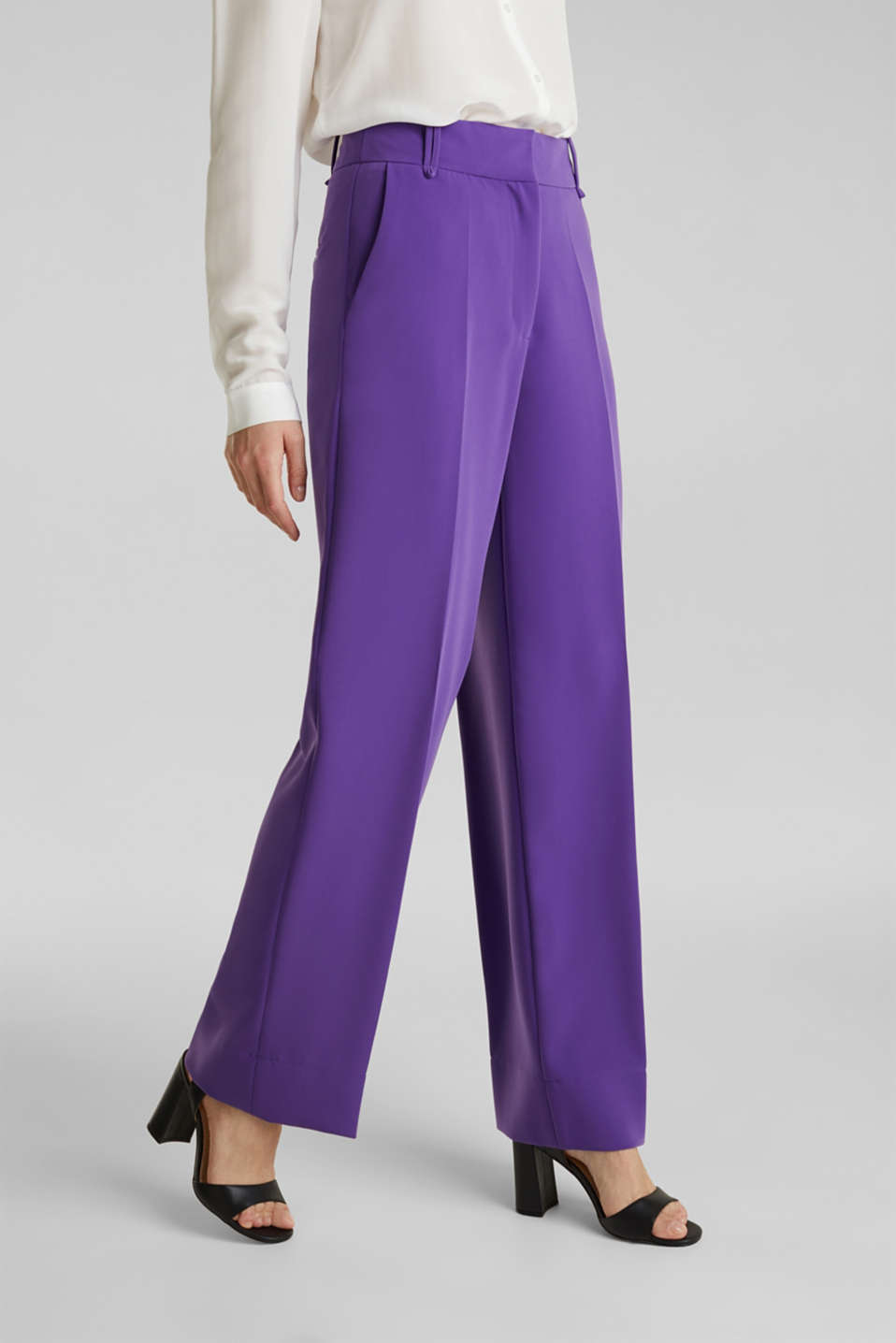 TECHNO TWILL mix + match wide stretch trousers, PURPLE, detail image number 0