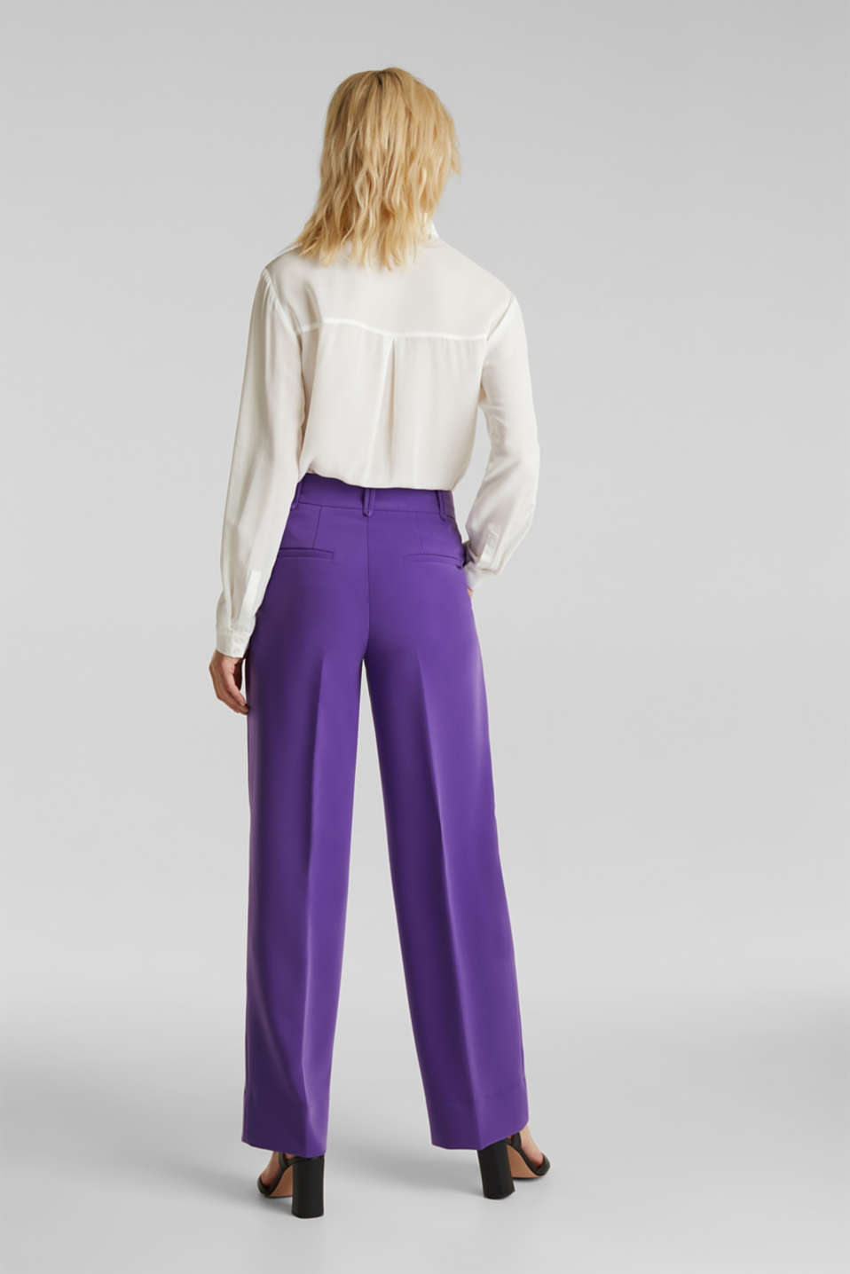 TECHNO TWILL mix + match wide stretch trousers, PURPLE, detail image number 3