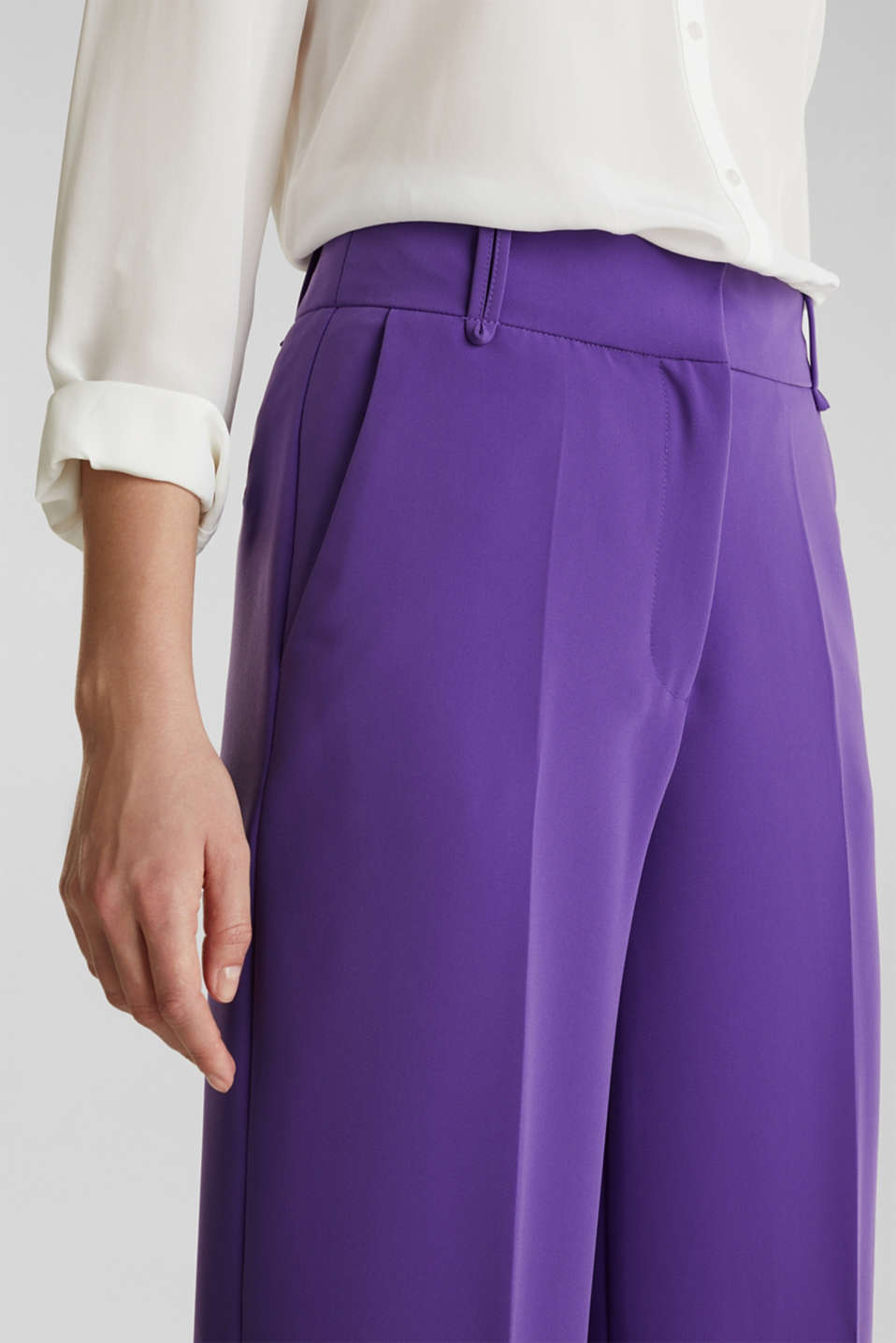 TECHNO TWILL mix + match wide stretch trousers, PURPLE, detail image number 2
